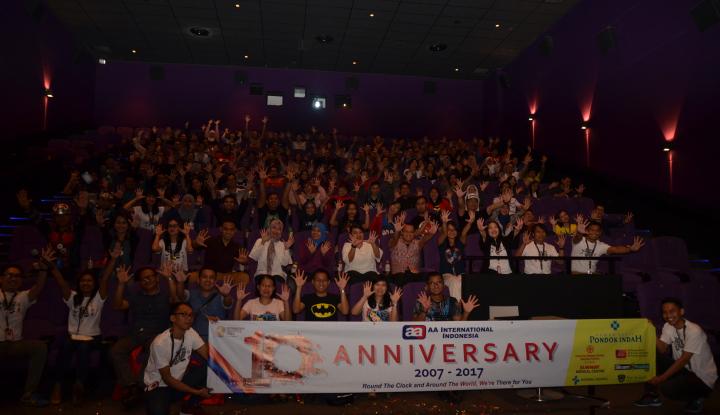 Foto Berita Rayakan Satu Dekade, AAI Indonesia Ajak Asuransi Nonton Bareng