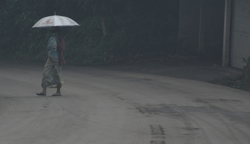 Foto Bencana Gunung Agung, BRI Siapkan Restrukturisasi ke Debitur
