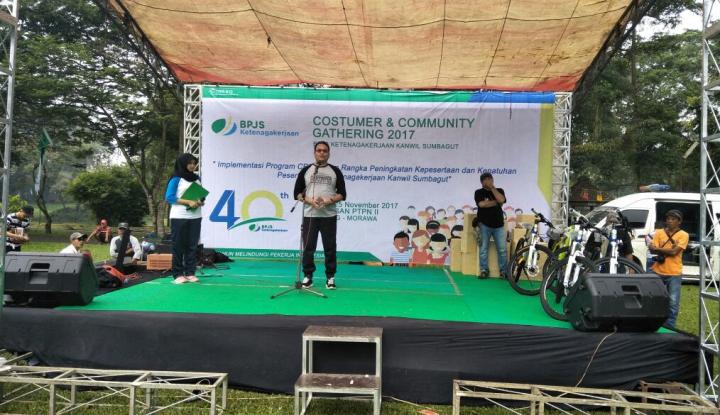 Foto Berita Tingkatkan Kepesertaan, BPJS Ketenagakerjaan Sumbagut Gelar Costumer & Community Gathering