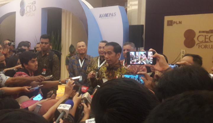 Foto Berita 2018 Tahun Politik, Jokowi: Pengusaha Urus Ekonomi Saja!