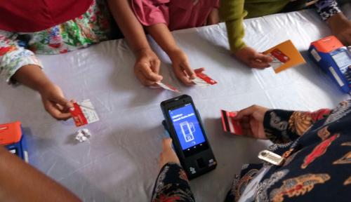 Foto Luncurkan mPOS+, Len Fasilitasi Penyaluran Bantuan Nontunai