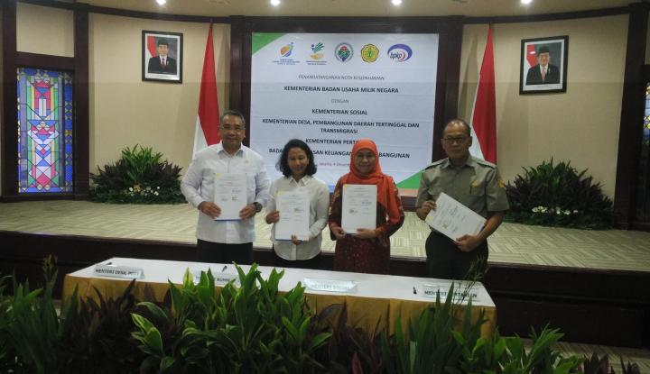 Foto Berita Sinergi Empat Kementerian Salurkan Bantuan Pangan Nontunai