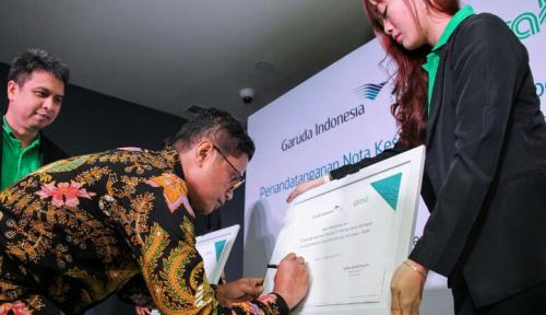 Foto Grab Gandeng Garuda Indonesia Berikan Nilai Tambah untuk Pelanggan