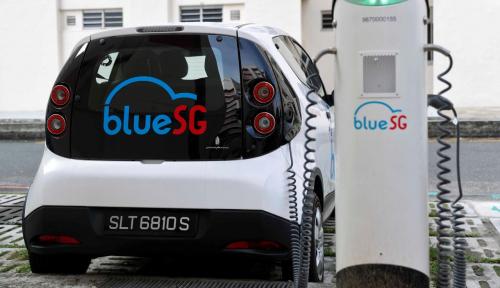 Foto Singapura Punya Program 'Berbagi Mobil Listrik'