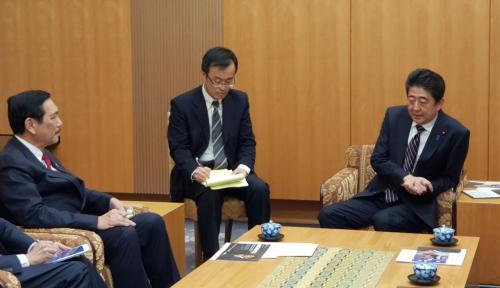 Foto Bertemu PM Jepang, Luhut Beberkan Potensi Indonesia