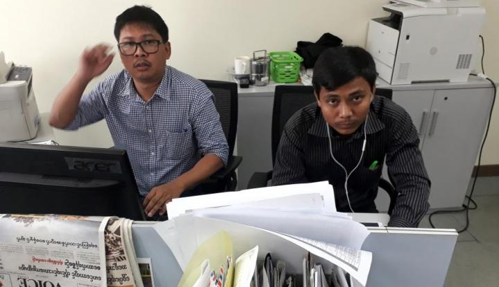Foto Berita Myanmar Didesak Lepaskan Jurnalis Reuters
