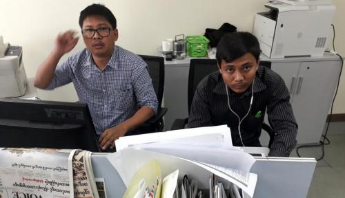 Foto Myanmar Didesak Lepaskan Jurnalis Reuters
