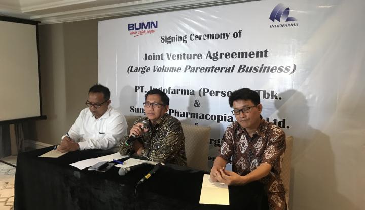 Foto Berita Indofarma Bentuk JV untuk Bangun Pabrik Infus di Makassar
