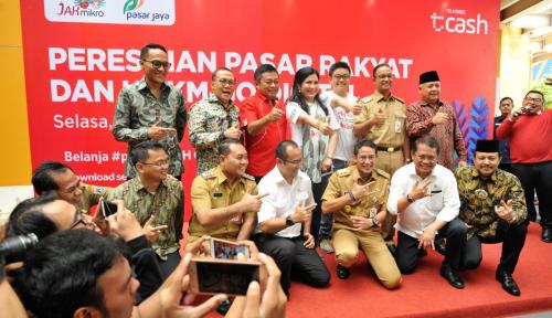 Foto Digitalisasi Pasar Rakyat dan UMKM, Pemprov Jakarta Luncurkan Jak Mikro
