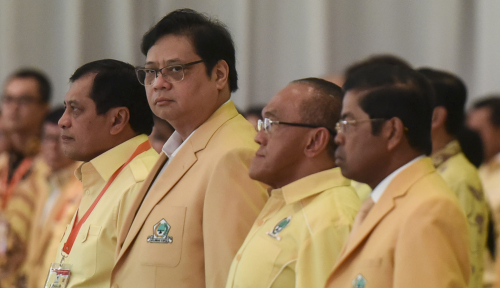 Foto Airlangga Lantik PLT Gubernur Jadi Ketua DPD Golkar Bengkulu