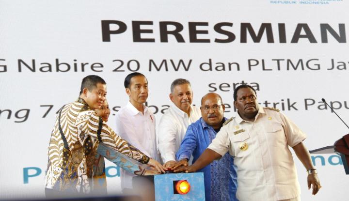 jonan resmikan pltmh warabiyai papua barat