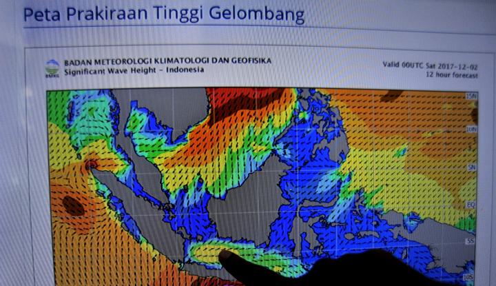 Foto Berita Gelombang Selat Karimata Capai Tiga Meter