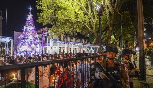 Foto Polri Jamin Keamanan Natal dan Tahun Baru 2019
