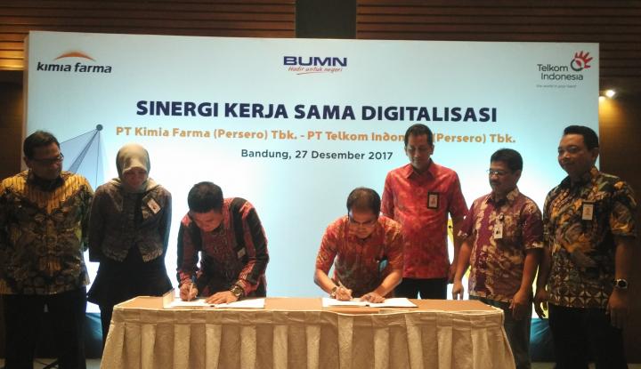 Foto Berita Terapkan Digitalisasi, Kimia Farma Gandeng Telkom Indonesia