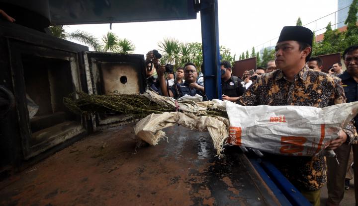 Foto Berita BNN Musnahkan Ratusan Gram Sabu-Sabu