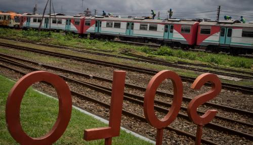 Foto Akhir Tahun, Pembangunan Kereta Bandara Solo Diprediksi Rampung