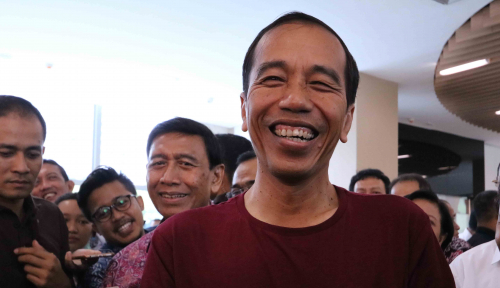 Foto Jokowi Sindir Politikus Ibarat Netflix di CEO Forum Australia