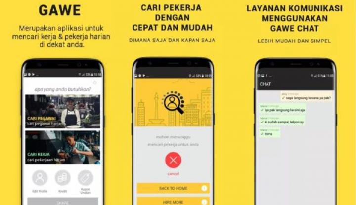 Foto Berita Gawe, Aplikasi Menjaring Pekerja untuk UKM