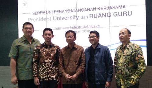 Foto Gandeng Ruangguru, President University Siapkan Beasiswa Hingga Rp66 Miliar