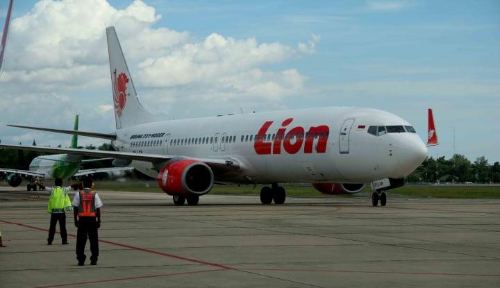 Foto Berita Lion Air Tergelincir, Beruntung Seluruh Penumpang Selamat
