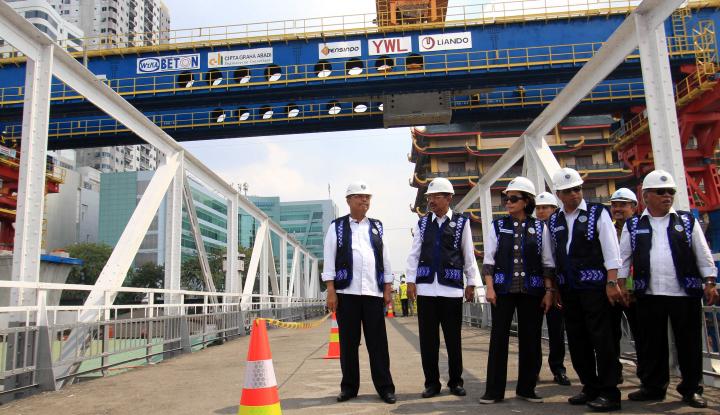 Foto Berita November 2018, Proyek Double Track dan Elevated Jalur KA Medan-Kualanamu Ditargetkan Rampung