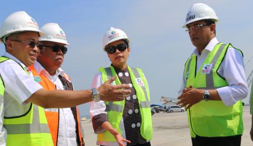 Foto Progres Pembangunan Fasilitas Kuala Tanjung Sumut Capai 86,68 Persen