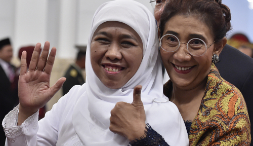 Foto Waduh, Khofifah Tolak Masuk Timses Jokowi-Ma'ruf?