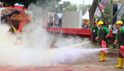 Foto Peringati Bulan K3, Pertamina MOR I Adakan HSSE Warrior