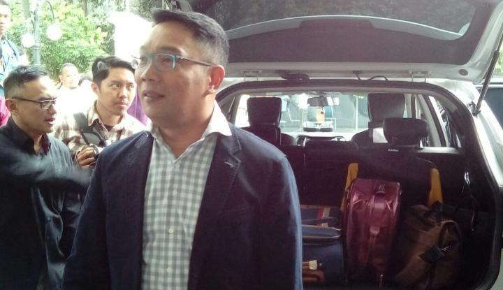 Foto Berita Temui Cak Imin, Ridwan Kamil Mau Ngadu Soal #GantiPresiden
