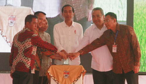 Foto Jokowi Sarankan Petani Jual Beras secara Online