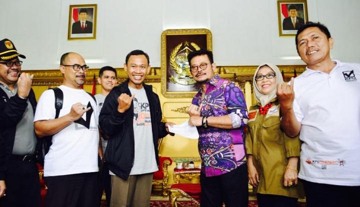 Foto Berita Coklit, Komisioner KPU Sambangi Rujab Gubernur Sulsel