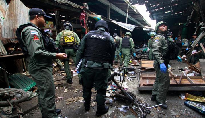Foto Berita Teror Bom Landa Thailand, Tiga Orang Tewas 18 Lainnya Terluka