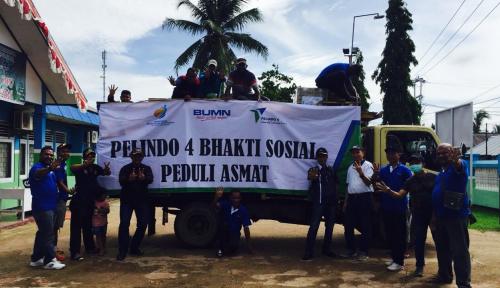 Foto Pelindo IV Salurkan Bantuan ke Asmat