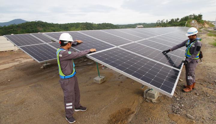 Foto Berita Bersama HK, Len Industri Bangun PLTS di Lokasi Tol Trans Sumatera