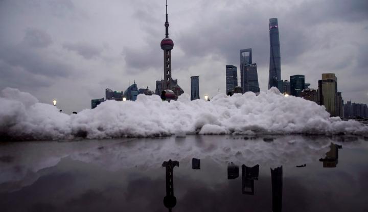 Foto Berita Badai Salju Terjang China Tengah, Kerugian Ditaksir Rp540 Miliar
