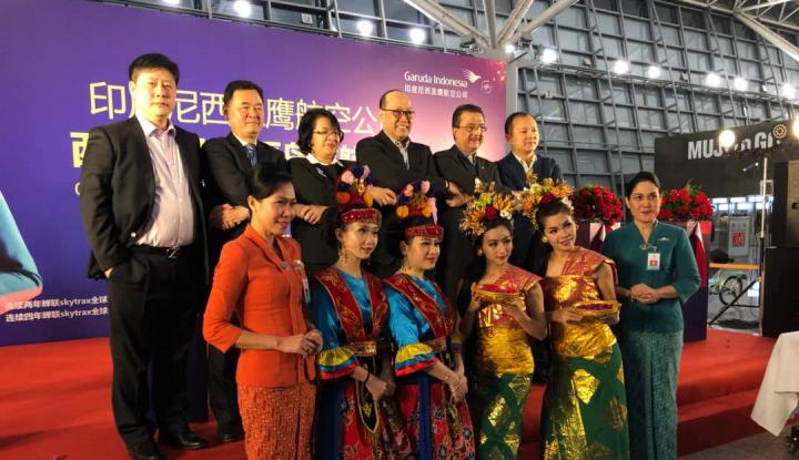 Foto Berita Garuda Indonesia Buka Penerbangan Langsung dari Denpasar ke 2 Kota di Tiongkok