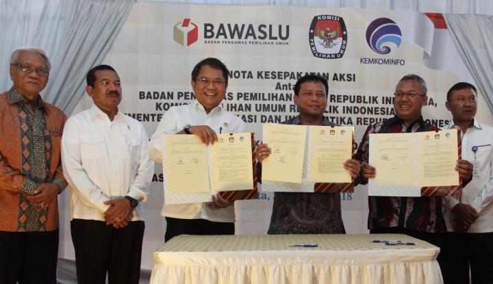 Foto Berita Kominfo, KPU-Bawaslu Duet Lawan Hoax
