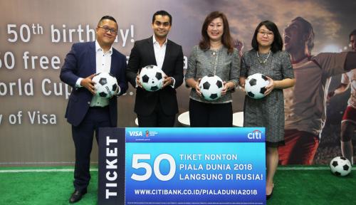 Foto Citi-Visa Ajak 50 Nasabah Nonton Piala Dunia 2018