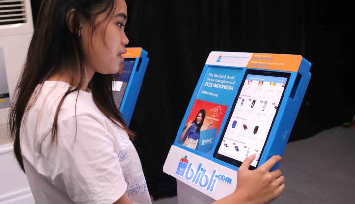 Foto Berita Kiosk Blibli Instore Bawa Pelanggan Pos Indonesia Go Digital