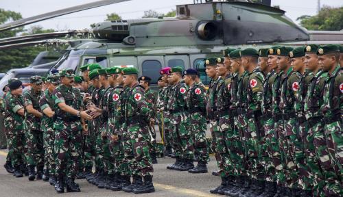 Foto Hore!! Gaji Prajurit TNI Segera Naik Hingga 57 Persen