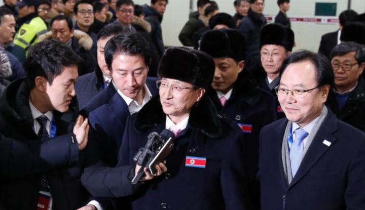 Foto Berita Berlaga di Olimpiade, Atlet Korea Utara Tiba di Korea Selatan