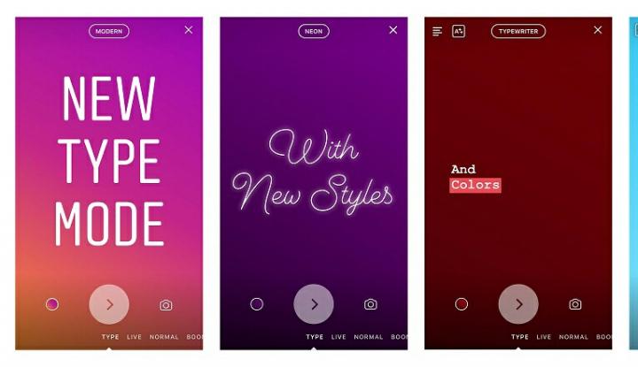 Foto Berita Instagram Perkenalkan Type Mode di Fitur Stories