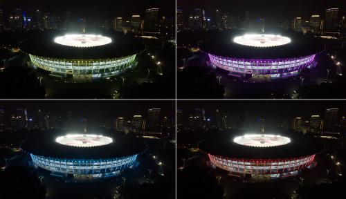 Foto Renovasi Stadion Tenis GBK Telan Rp92,8 Miliar