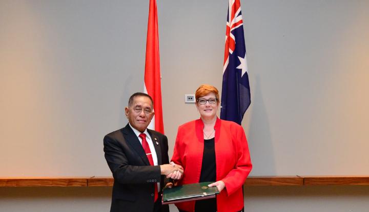 Foto Berita Indonesia-Australia Sepakat Perpanjang Kerja Sama Pertahanan