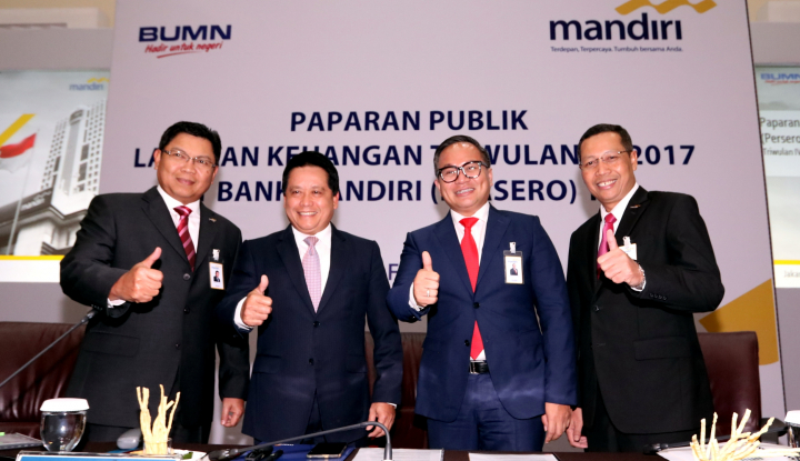 Foto Berita Laba Bersih Bank Mandiri Meroket 49,5% di 2017