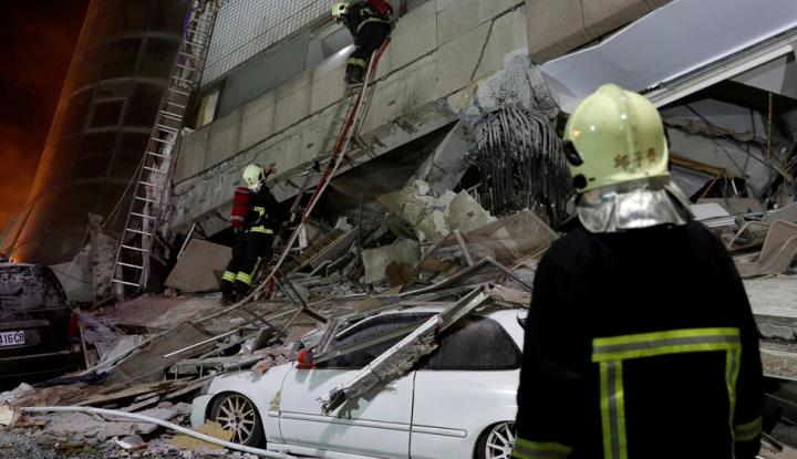Foto Berita Gempa Guncang Taiwan, 4 Orang Tewas 145 Lainnya Hilang