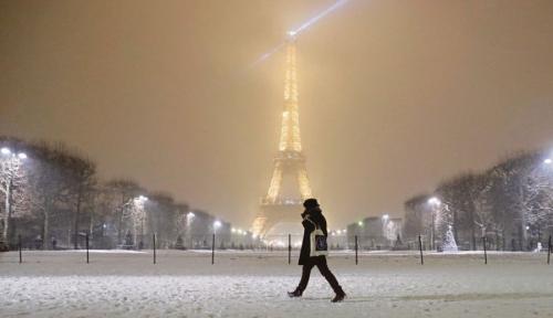 Foto Badai Salju Juga Bisa Mendisrupsi Prancis