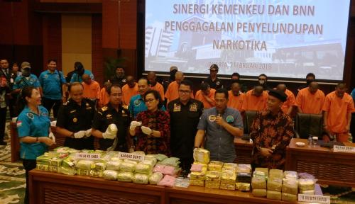 Foto Bea Cukai dan BNN Amankan 110,84 Kg Sabu dan 18.300 Butir Ekstasi