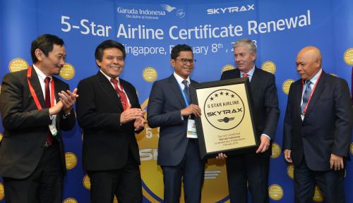 Foto Garuda Indonesia Pertahankan Tahta Sebagai Maskapai Bintang Lima dari Skytrax