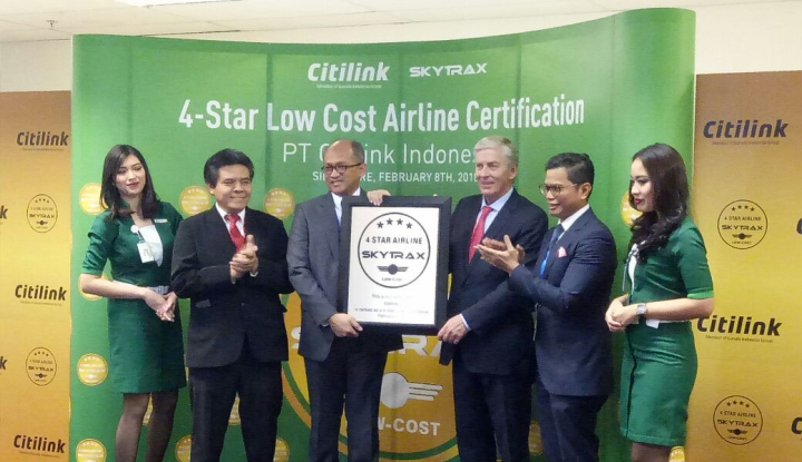 Foto Berita Citilink Raih Predikat Penerbangan Bintang 4 dari Skytrax